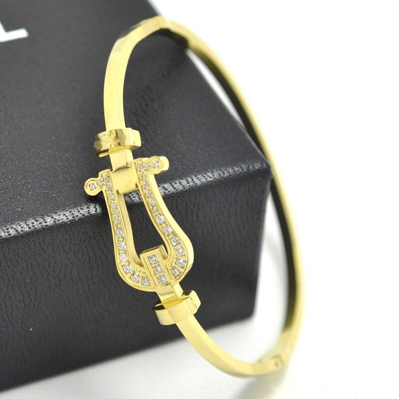 Tyme Carter love Bracelet Gold Color Stainless Steel Bangles H Bracelets for women Cuff bracelet men Jewelry Pulseiras