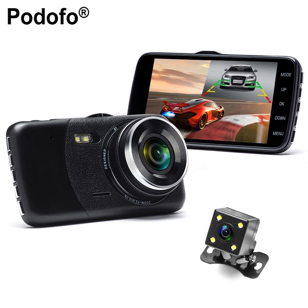 Podofo 4.0 pouce Double Lentille Voiture Dvr Full HD 1080 P Voiture Dvr Enregistreur Vidéo De Voiture Caméra Dash Cam Soutenir caméra de Vue Arrière De Sauvegarde caméra