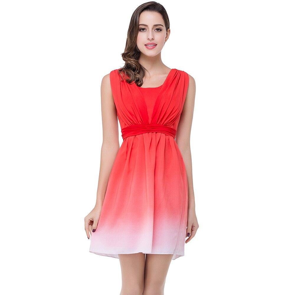 Hot Sale Sleeveless Short Red Bridesmaid Dresses 2017