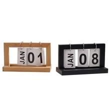 Desk Calendar Wooden Paint Page Flip Decoration Hand Accessories Waterproof Calendar Simplicity Home Creative Ornaments