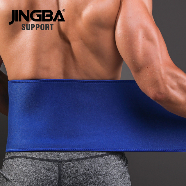 JINGBA SUPPORT Professional Adjustable Waist trimmer Slim fit Abdominal Waist sweat belt Waist back support belt Fitness 3
