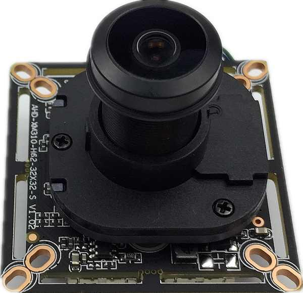 AHD/XVI 720 P XM310 + H62 moduł kamery z M12 obiektyw typu rybie oko Panorama 2.8-12mm ręczny Zoom 1.0MP IRC 38*38mm