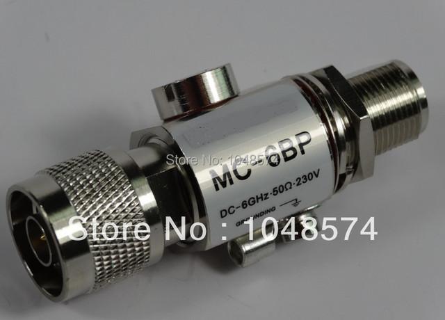 Envío Libre MC-6BP 6 GHZ 200 W Coaxial Rayo Protector Contra Sobretensiones (N Connector)