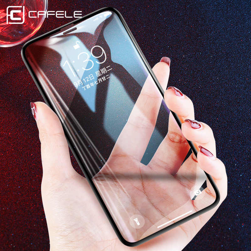 CAFELE Screen Protector For iPhone X Xr Xs Max Tempered Glass Full Cover Protective Glass Film For iPhone X Xr Xs