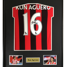 ab53ff6d Kun Aguero signed autographed soccer shirt jersey come with Sa coa framed Manchester  City(China
