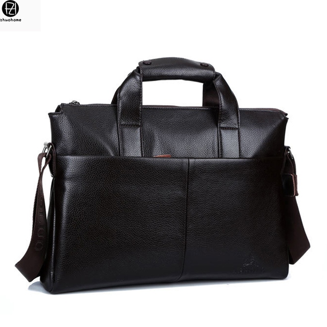 15.6 inches leather briefcase business man handbags brand messenger Laptop bags male shoulder crossbody bags bolsa feminina