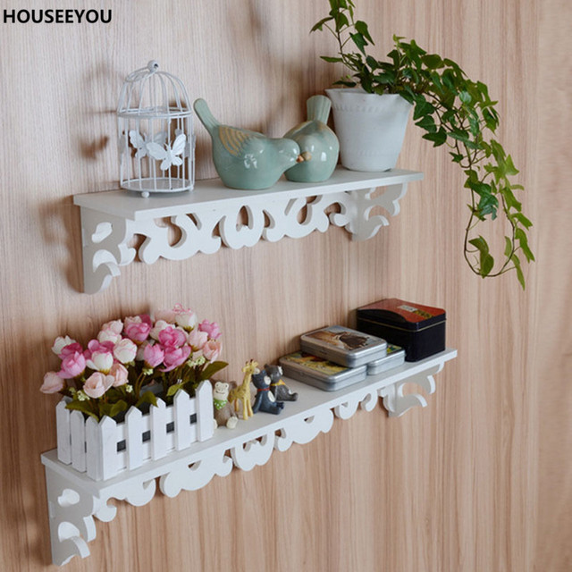 White Wall Hanging Decorations Shelf Goods Convenient Storage Holder Home  Decor Ornaments Decoration Crafts Dining Living