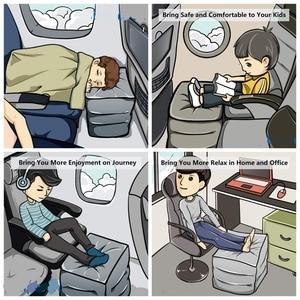 Image 5 - הדום אוויר כרית מתנפחת נסיעות רגל כרית שאר עבור מטוס רכב משרד רגל כריות כרית תמיכת זרוק חינם