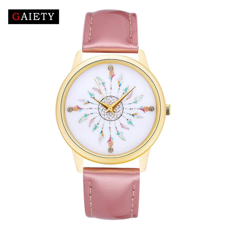 dropshipping Women Fashion Leather Band Analog Quartz Round Wrist Watch Watches  montre femme hot sales17Oct09