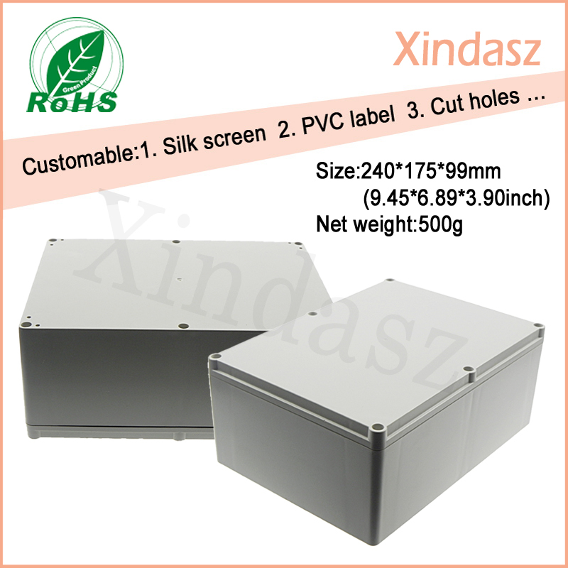 240*175*99mm large plastic waterproof boxes plastic electronics project box abs plastic electronic box waterproof box abs switch box plastic box electronics 200 200 95mm ip66 ds ag 2020 s