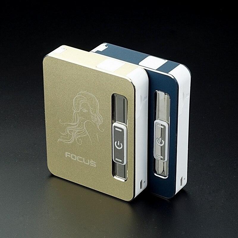 Windproof USB charging font b electronic b font lighter 10 font b cigarette b font font