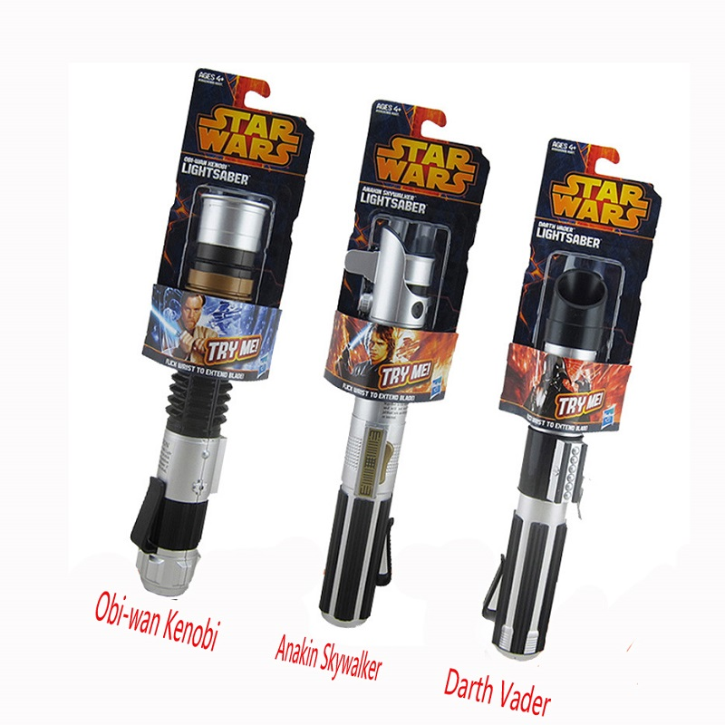 80cm Party Cosplay Star War  Darth Vader Anakin Obi-Wan Telescopic Sword Pvc Action Toy Anime Star War Light Saber Sword Toys светильник декоративный 3dlightfx sw darth vader saber 3d