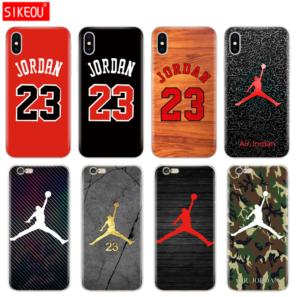 949786d46f28 Silicone Cover Phone Case For Iphone 6 X 8 7 6s 5 5s SE Plus 10 Case jordan  23 basketball