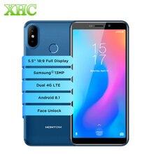 HOMTOM C2 5.5inch Mobile Phones Android 8.1 Quad Core Face Unlock OTG GPS Fast Charge RAM 2GB ROM 16GB Dual SIM 4G Smartphones