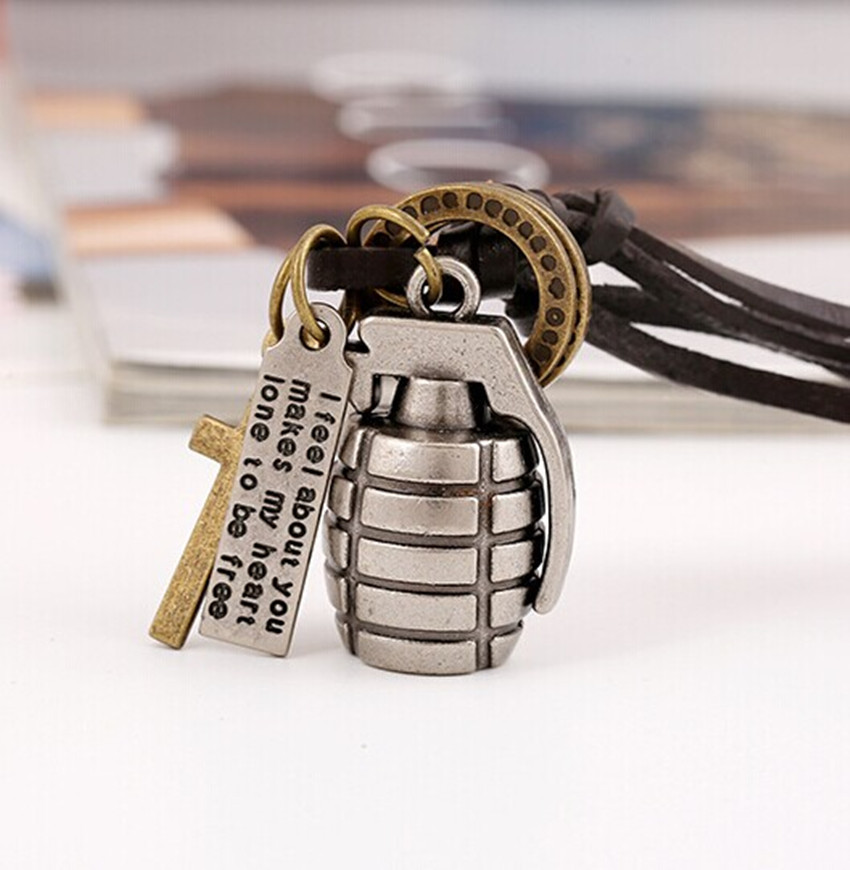 Vintage military charms grenade