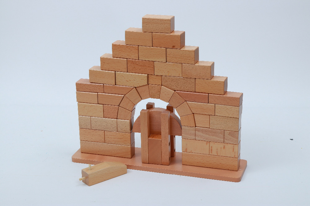купить Wooden Blocks Roman Bridge Montessori Toys Intellectual Development Toys Gift for Kids Children Even Grown Up Building Blocks по цене 3263.88 рублей