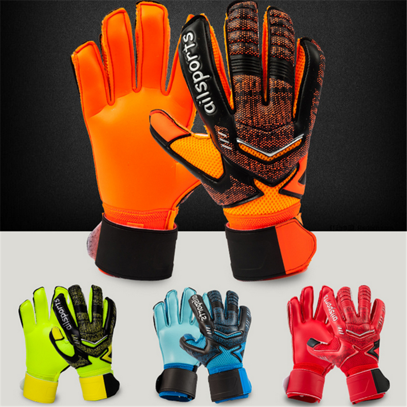 все цены на Professional Goalkeeper Football Gloves Finger Protection Thickened Latex Soccer Goalie Gloves Goalkeeper Gloves Children Adult