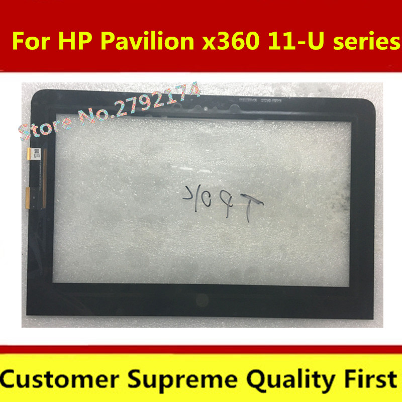 US $42 0  Touch screen new For HP Pavilion x360 11 U series 11 U053TU Touch  Digitizer replacement M1 U001DX free shipping-in Laptop LCD Screen from