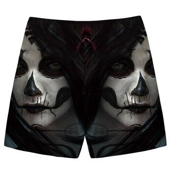 KYKU Brand Skull Shorts Men Character Beach shorts Cargo Black Terror 3d Print short Cool Casual mens Short Pants Summer 2018 1