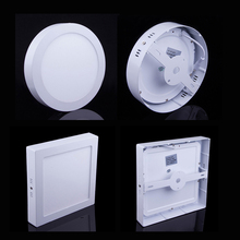 LED panel light 10W/15W/25W Round/Square Surface Mounted panel led Ceiling lamp downlight kitchen AC85-265V +Driver AE