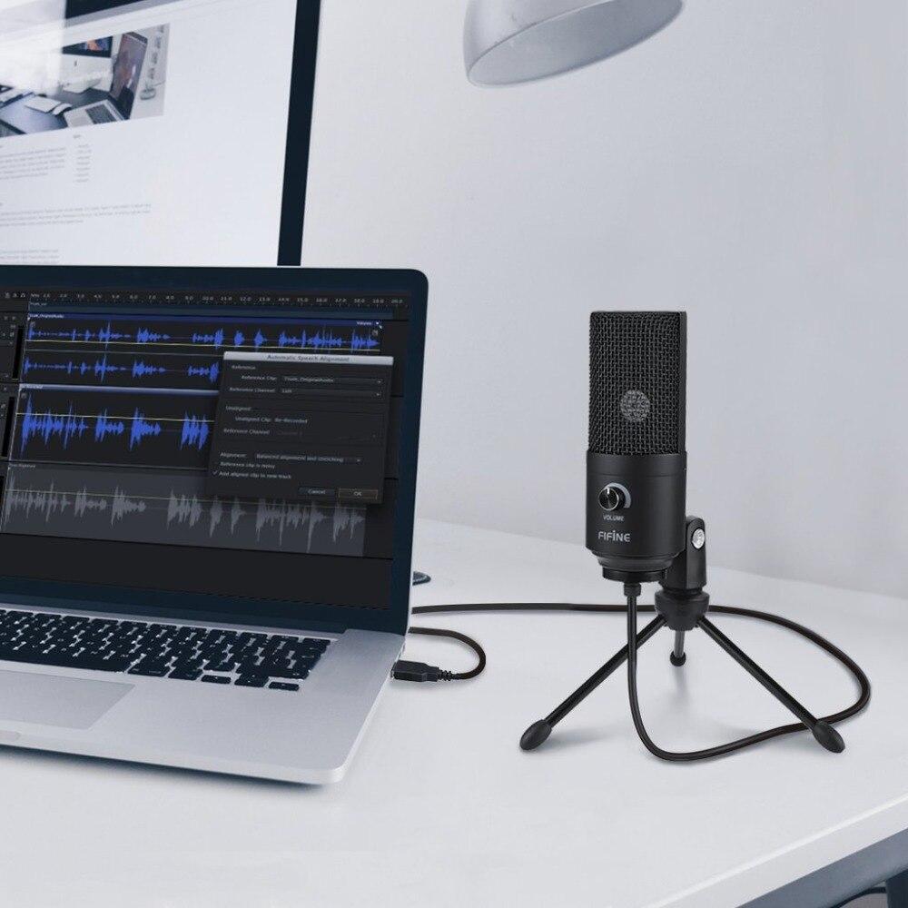 Fifine a USB de Metal condensador grabación micrófono para el ordenador portátil MAC o Windows cardioide de estudio de grabación voz - 5