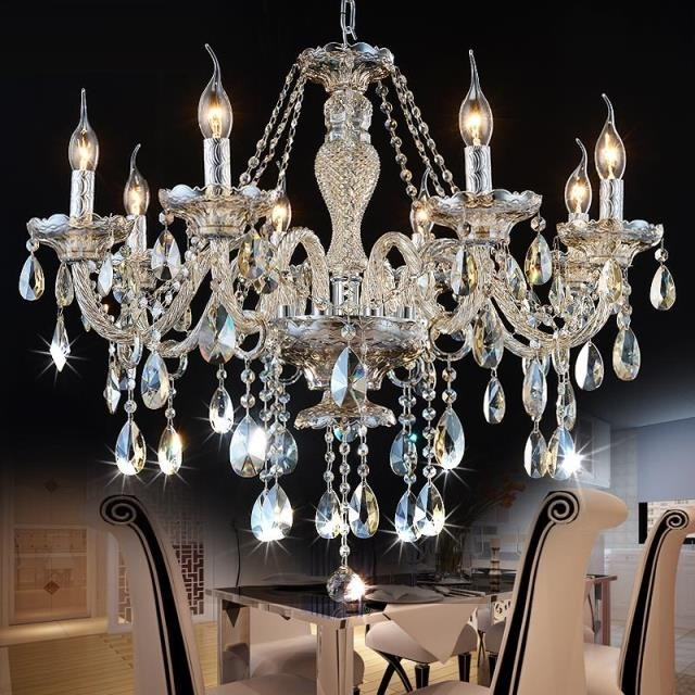 Chandelier Crystal Lighting Modern FREE SHIPPING bedroom living room chandelier light crystal K9 lighting chandeliers Luxury restaurant white chandelier glass crystal lamp chandeliers 6 pcs modern hanging lighting foyer living room bedroom art lighting