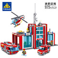Super Large Fire Station 774 Pcs Building Blocks Helicopter Educational Bricks Toy Blocks Compatible with lepin