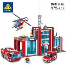 Super Large Fire Station 774 Pcs Building Blocks Helicopter Educational Kazi Bricks Toy Blocks Compatible with legos City Fire
