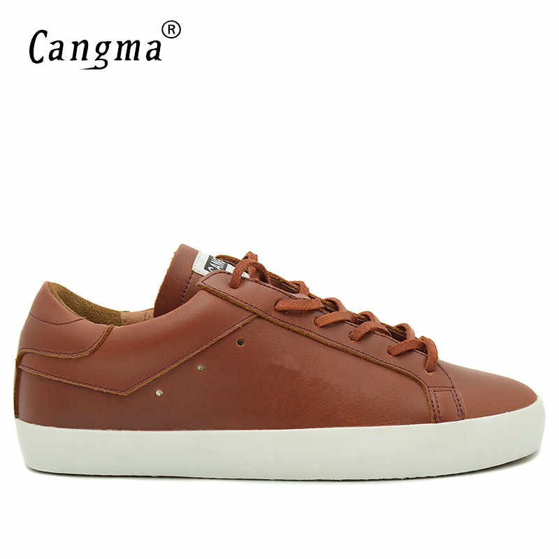 afed6a5e CANGMA брендовые кроссовки мужская повседневная обувь ручной работы  натуральная кожа бас дышащие Scarpa Большие размеры Мужские