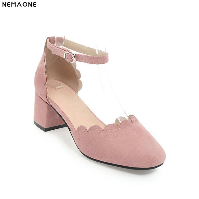 149c1d485d0c 2019 New sweet summer high heel shoes woman two-piece women pumps square  toe girl s shoes