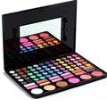 78 Colores de Maquillaje Profesional Paleta de Sombra de ojos Sombra de Ojos Cosméticos Conjunto de brillo de labios y sombreado polvo