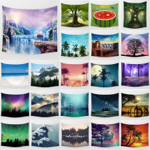 Beauty landscapes forest  large tapestry wall hanging tapestry home decoration rectangle bedroom wall art tapestry цена 2017