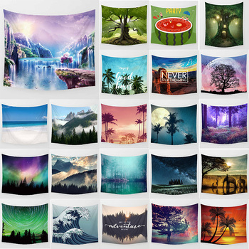 цена на Beauty landscapes forest  large tapestry wall hanging tapestry home decoration rectangle bedroom wall art tapestry