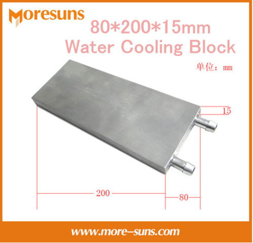Fast Free ship 80*200*15mm water block/Aluminum Water Cooling Block liquid cooling block radiator