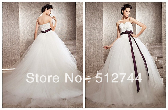 Stylish Ball Gown Sweetheart Tulle Chapel Train Wedding Dress Inspired By Kate Huds In Bride Wars