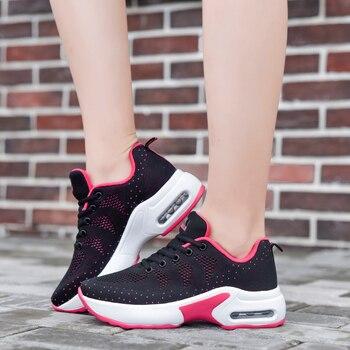 Weiße Segeltuchtennisschuhe   Frauen Tennis Schuhe Sneaker 2019 Frühling Herbst Heißer Verkauf Weiß Plattform Lace-Up Schwarz Atmungsaktive Frau Schuhe Tenis Feminino Damen