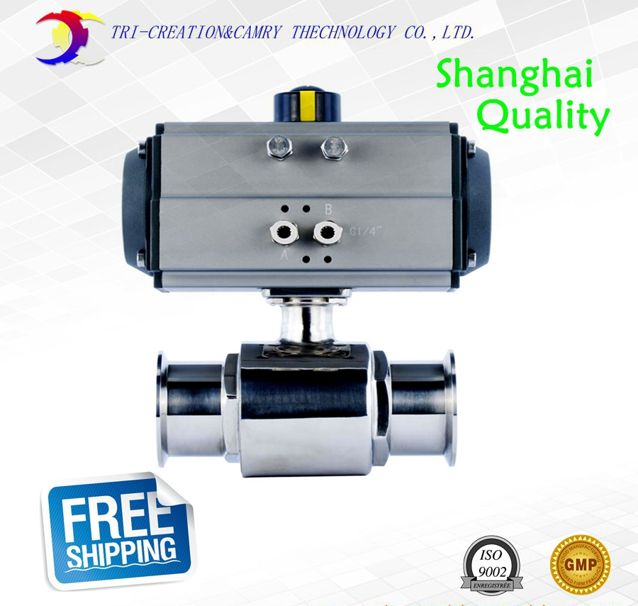 1 DN20 sanitary stainless steel ball valve,2 way 304 quick-install/food grade pneumatic valve_double acting straight way valve qe 02 1 4 quick exhaust valve pneumatic valve