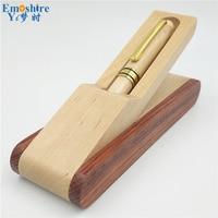 Wood Ballpoint Pen Box Brand Roller Ball Pen For Business Writing Canetas Office Supplies Gift Pencil