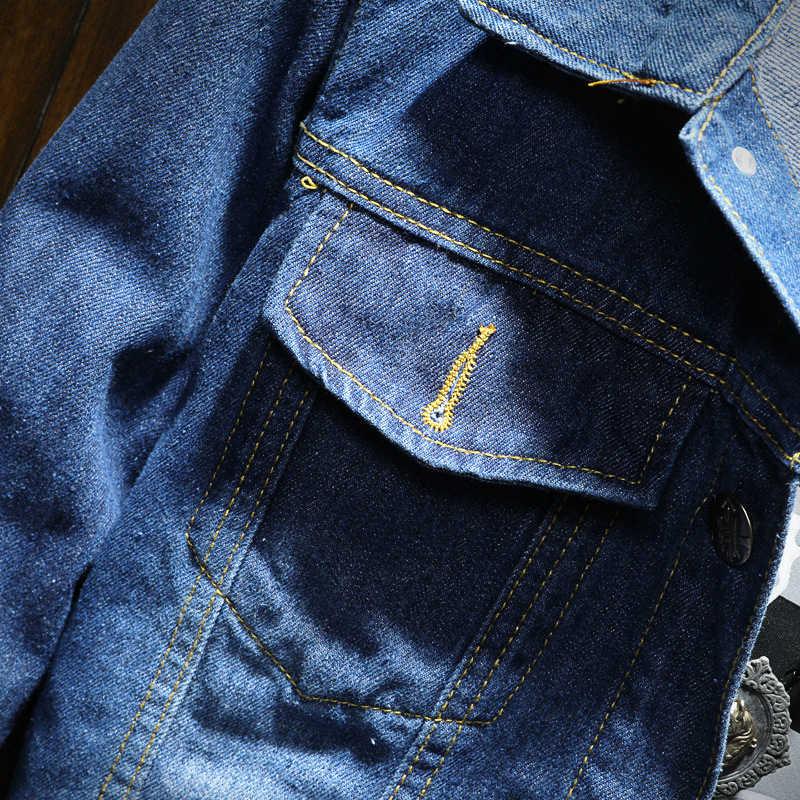 DIMUSI осень-зима Мужская джинсовая куртка Мужская модная мужская джинсовая куртка-бомбер мужские ковбойские джинсы куртки одежда 4XL, YA950