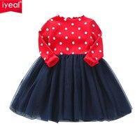 IYEAL Yürüyor Bebek Kız Çocuk Örme Tutu Elbise Uzun Kollu Prenses Kız Elbise Bahar Sonbahar Çocuk Gelinlik 2-7Y