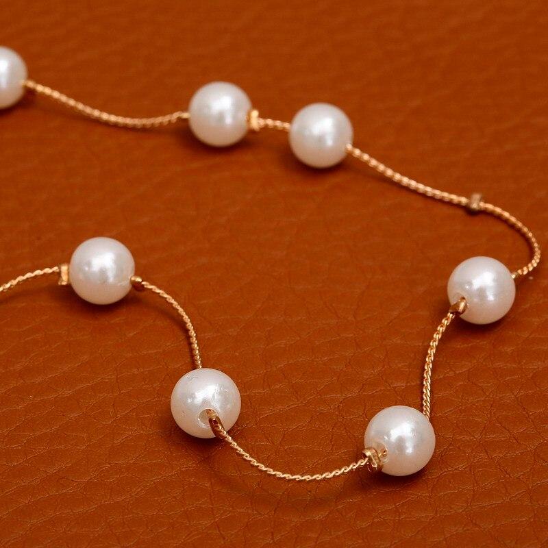 Ожерелье из искусственного жемчуга, высокое качество, не вызывает аллергии, опт, золотой цвет, массивное ожерелье, цепочка,, жемчужные украшения