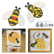 YaMinSanNiO Bee Clear Stamp and Metal Cutting Dies Scrapbooking Beehive for Card Making Album Embossing Stamps New 2019