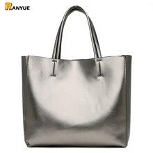 Solidna duża pojemność kobiet torby na co dzień torebka kobiety Pu skórzane torebki damskie zestaw toreb na ramię Bolsa Feminina czarny srebrny złoty