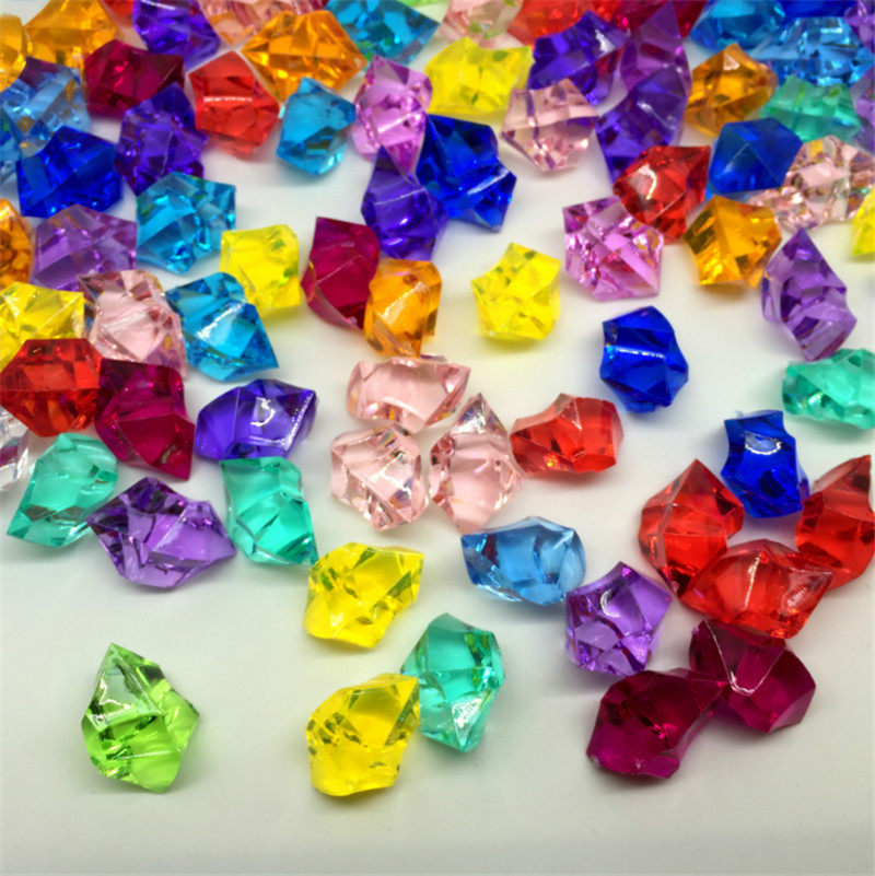 50PCS 14*11mm Acrylic Crystal Diamond Pawn Irregular Stone Chessman Game Pieces For Board Game Accessories 10 Colors
