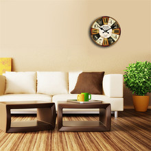 Vintage Decorative Multicolor Bamboo Wall Clock