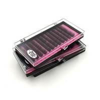 3 Case 10mm 3D Volume Mink Eyelash Extensions Sets Mixed Eye Lashes In Professional Lash Beauty