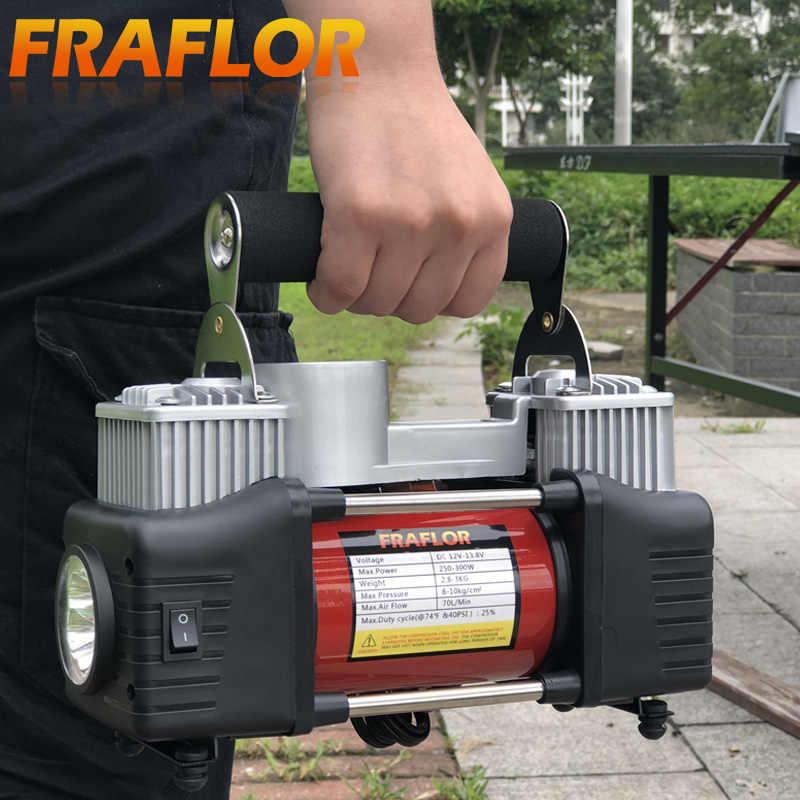 Kaleep cilindro doble 150psi 12v coche bombas de goma neumáticos Electric air compresor