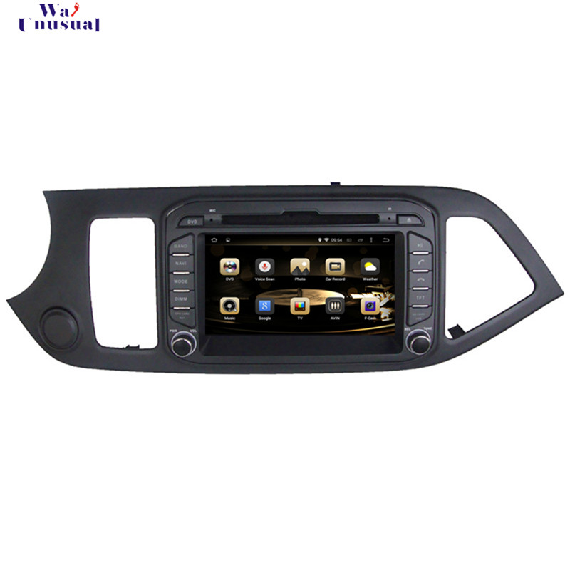 WANUSUAL 7 Inch Octa Core 32G 4G RAM Android 6.0 Car Video Player GPS for KIA Picanto Morning 2011 2012 2013 2014 2015 2016 2017