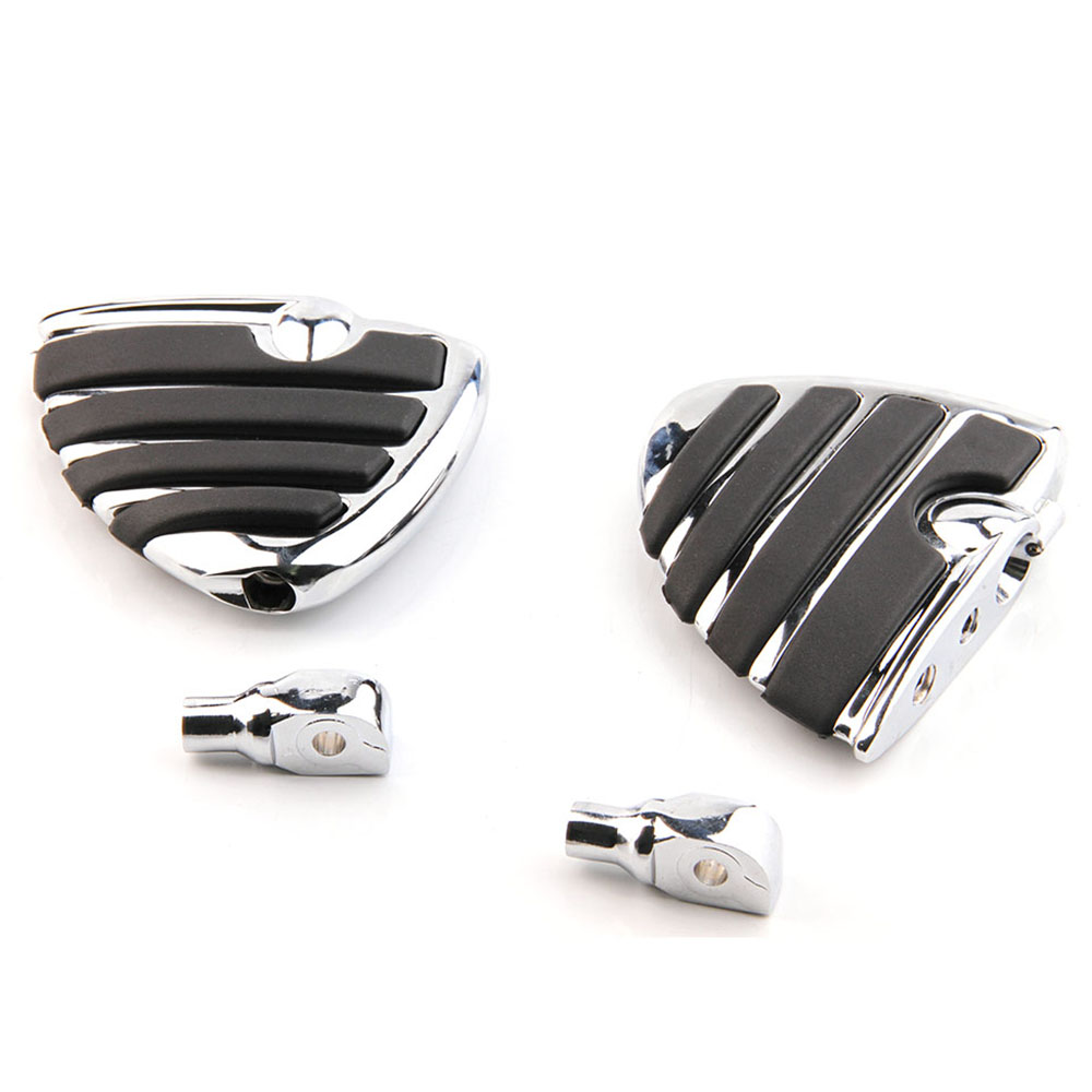 For Suzuki Intruder 1400 1500 Boulevard S83 C90 Marauder 800 Aluminum Front Rear Footpegs Foot pegs Footrest Rests Pedals CHROME for suzuki intruder 1400 1500 lc boulevard s83 c90 marauder 800 wing motorcycle foot pegs motorcycle part