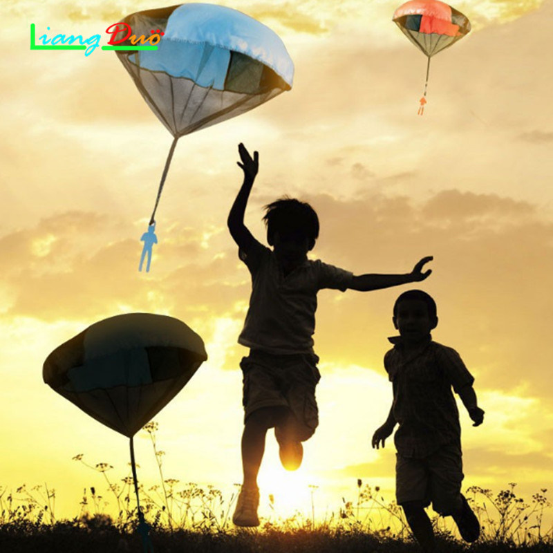 Hands Throwing Children Mini Playing Parachutes Soldiers Outdoor Sports Childrens Educational Toys Boys And Girls Favorite
